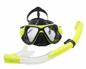 Easy Breathable Scuba Diving Equipment Snorkelling Freediving Mask Snorkel Set for Adult, Anti-fog