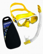 Cressi Snorkelling Gear, Mask Dry Snorkel Set with Bag - Cressi Italian Quality Since 1946