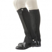 Plain Amara Half Chaps (choose from a range of sizes and colours black or brown) - elasticated calf sections for a sung fit.