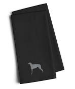 Caroline's Treasures BB3396BKTWE Scottish Deerhound Black Embroidered Kitchen Towel (Set of 2), 70cm H x 48cm W, Multicolor