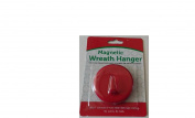 Magnetic Wreath Holder for Steel Doors - Red - No Nails No Wires! Holds up to 2.7kg
