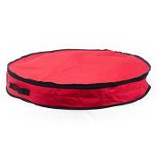MY.Homewares 60cm Waterproof Christmas Wreath Storage Bag,Red