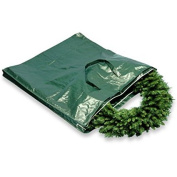 Heavy-Duty Wreath and Garland Storage Bag with Handles and Zipper, Fits up to 1.2m Decorated Wreath by National Tree