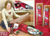 Christmas Wrapping Paper Storage Bag - Holds 12 Rolls of Wrapping Paper