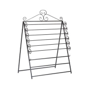 Easel Or Wall Mount Craft Storage Rack Black Wrapping Paper Roll