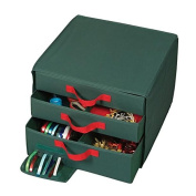 Holiday Green 3 Drawer Accessory Organise