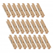 Natural Wooden Clothespins - Large Clothespins for Shirts, Sheets, Pants, Decor - 24 Pack