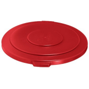 Rubbermaid Commercial BRUTE Trash Can Lid, Red, 208.2l, FG265400RED