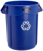 Rubbermaid Commercial Products FG263273BLUE-V Brute Recycling Container with Venting Channels, 121.1l Blue