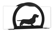 WIREHAIRED DACHSHUND Metal Letter Napkin Card Holder