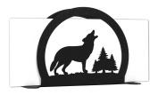 WOLF Wildlife Metal Letter Napkin Card Holder