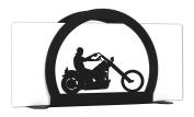MOTORCYCLE EASY RIDER Metal Letter Napkin Card Holder