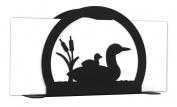 LOON DUCK BIRD Metal Letter Napkin Card Holder