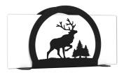 ELK CARIBOU Wildlife Metal Letter Napkin Card Holder