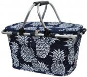 Canvas Pineapple Market Basket