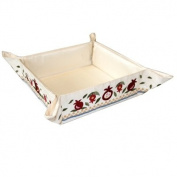 Matzah Plate - Tray - Box - Holder For Passover Bread - Yair Emanuel EMBROIDERED FOLDING BASKET POMEGRANATES