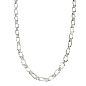 Oval 1+1 Sterling Silver Chain Necklace Toggle Clasp Nickel Free 60cm