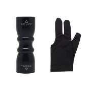 Elemart Billiard Glove - Pool Glove 3 Finger Billiard Black Glove for Both Hands + Bowtie Snooker Billiard Pool Cue Tip Stick Shaper Repair Tools w/ Shaper, Scuffer, Tips Pick Aerator