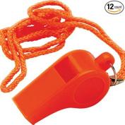 Unified Marine 50074032 Safety Whistle, Orange Plastic