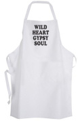 Wild Heart Gypsy Soul – Adult Size Apron – Life Quote