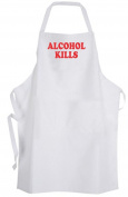 Alcohol Kills Adult Size Apron Awareness Disease Cure Hope Support Anti Drinking