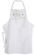Happy 7th (Seventh) Anniversary – Adult Size Apron