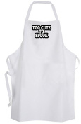 Too Cute To Spook – Adult Size Apron - Halloween Ghost Cute Humour Quote