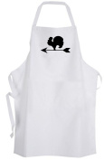 Rooster Silhouette (Black & White) – Adult Size Apron – Chicken Farm Kitchen