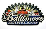 Baltimore Maryland Sunburst Fridge Magnet