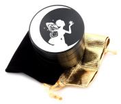 Fairy Laser Etched Design 4pcs Large Size Herb Grinder With FREE Scraper & Velvet Pouch Item # ETCH-G012317-72