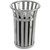 Witt Industries M2000-SLV Outdoor Oakley Collection Receptacle, Silver Finish