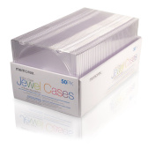 "Memorex - 50/Pk Slim Cd/Dvd Clear Jewel Cases ""Product Category"