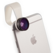 iPhone Camera Lens and Smartphone Lens Kit by Pocket Lens - Macro (closeup) and Wide Angle Lens Alternative for Olloclip Fits Most Cases, Comes With Small Carry Pouch iPhone 4/4s/5/6/iPad and Others. Add Creativity to Your Smartphone Pics Now!
