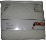 Single Anvil Classics Luxury Quilted Mattress Protector, White, Extra Deep Box 33cm