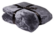Brand Sseller - Blanket Microfibre Cashmere Feeling Various Colours & Sizes, Polyester, grey, 150 x 200 cm