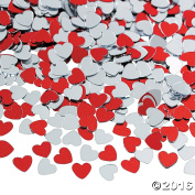 Metallic Foil Red and Silver Heart Confetti (2 PACK)