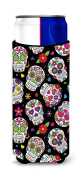 Caroline's Treasures BB5116MUK Day of the Dead Black Michelob Ultra Hugger for slim cans , Slim Can, multicolor