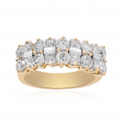 2.50 Carat Round/Princess Cut Diamond Ring 18K Two Tone Gold