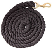 Cotton Horse Lead Rope 2.5m - Brass Snap