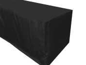 Small Fitted Tablecloth - Black 1.2m