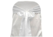Satin Chair Sashes - White - Packet of 5