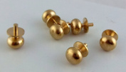 The Components Co Dolls House Miniature Door Furniture 6 Brass Knobs Handles