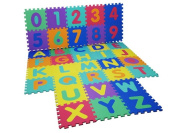 LIVIVO ® 36 Pcs Giant Size Foam Alphabet Children Soft Jigsaw Puzzle Play Learning Mat Numbers