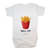 """""""Small Fry"""" Bodysuit/ Baby Grow, Baby Clothing , Cute, Funny, Baby Boy, Baby Girl, Unisex, Hilarious, Cheeky, Novelty, Christmas, Baby Shower, Birthday Gifts, Presents"""