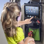 Tekbox 2x Car Back Seat Organiser Multi Pocket Storage with iPad Tablet Portable DVD Holder