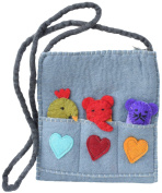 Little Kathmandu Kids Finger Puppet Felt Multicoloured Casual Hippie Bohemian Bag
