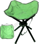 4 LEGS STRONG CHAIR SEAT FOLDING CAMPING STOOL PORTABLE HIKING FISHING BBQ COLOURS AVAILABLE