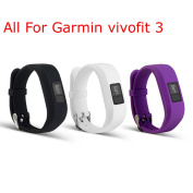 I-SMILE Replacement Wristband With Secure Clasps for Garmin Vivofit 3 Only