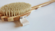 100% Natural Dry Body Brush with natural bristles and Bamboo for Exfoliation, Detox, Reduce Cellulite & Boost Lymphatic System - by ChikuBambu Ltd