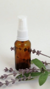 20ml Amber Dropper Bottle & 18mm WHITE Atomiser, suitable for essential oils, fragrances, facial spritzers etc